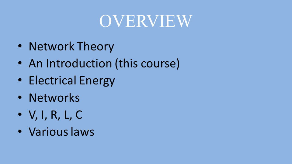 a overview of electrical energy