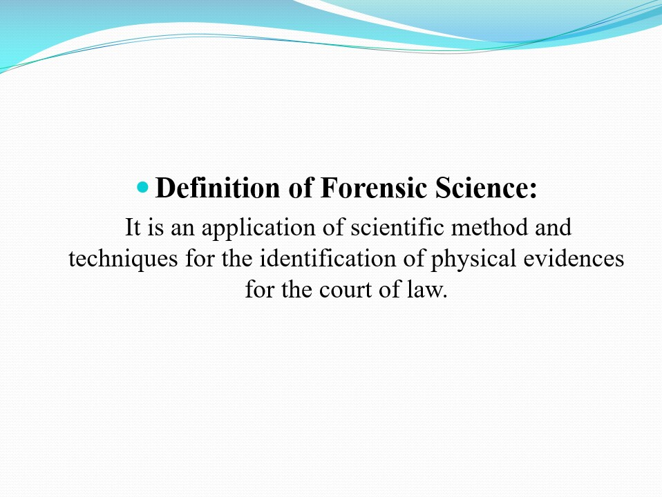 a description of forensic science Forensic pathology career & salary outlook one of the most lucrative and in-demand subfields of forensics is pathology students can major in forensic science.