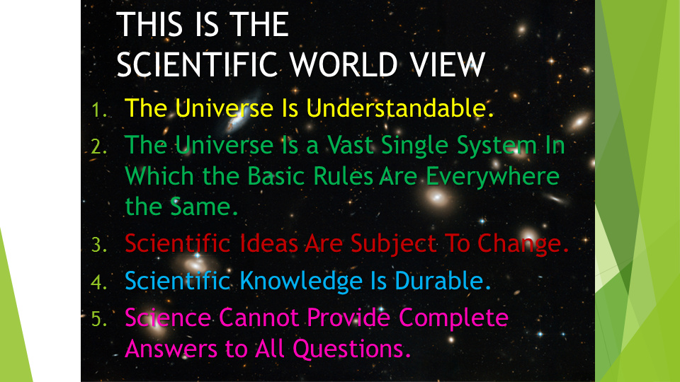 science cannot answer all questions