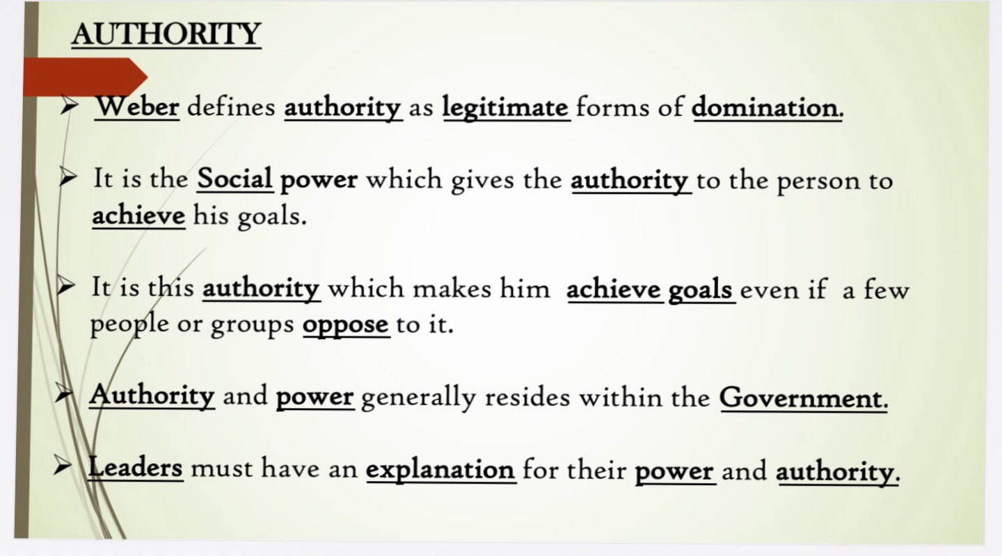max weber concept of authority